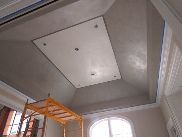 Venetian Plaster and Silver Leafing