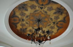 Venetian Italian Plaster Applied with Decorative Artwork