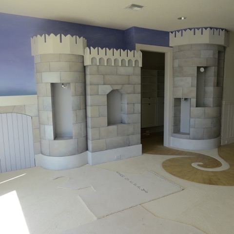 Children's Room -  Completed castle