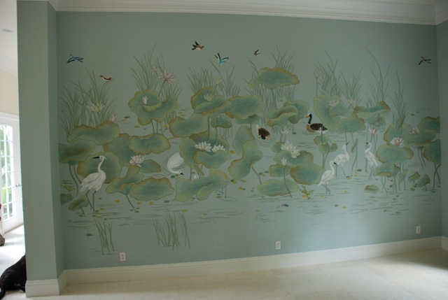 Oil Painted Hallway Niche Mural